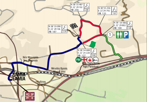 acropolis rally 2016 shakedown map