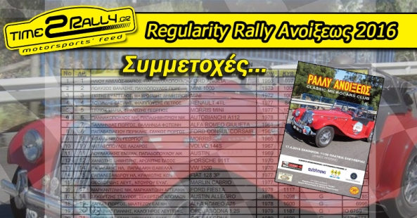 header regularity rally anoikseos 2016 symmetoxes classic microcars