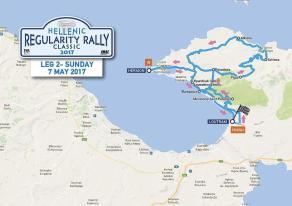 Hellenic Regularity Rally map Day2
