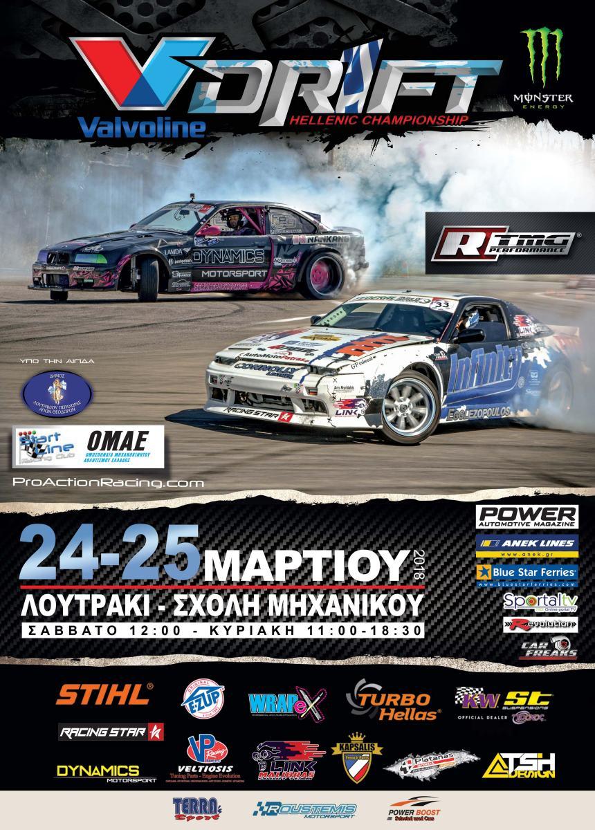Στο Λουτράκι ο πρώτος αγώνας Του Πανελληνίου Πρωταθλήματος Drift 2018